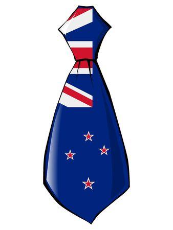 new zealand: necktie in national colours of New Zealand