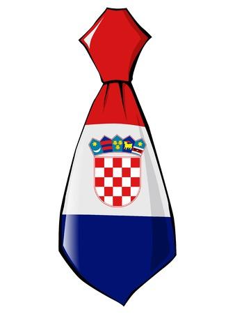 croatia: necktie in national colours of Croatia