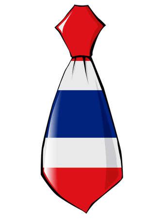 v�tements pli�s: necktie in national colours of Thailand Illustration