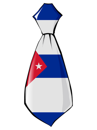 necktie in national colours of Cuba Ilustrace
