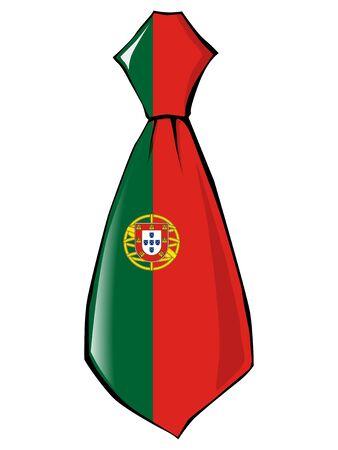 v�tements pli�s: cravate aux couleurs nationales du Portugal Illustration