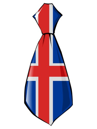 necktie in national colours of Iceland Illustration