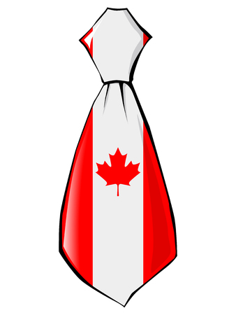 necktie: necktie in national colours of Canada