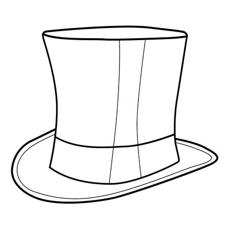 top hat: outline illustration of top hat for gentleman Illustration