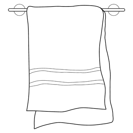 towel: outline illustration of towel