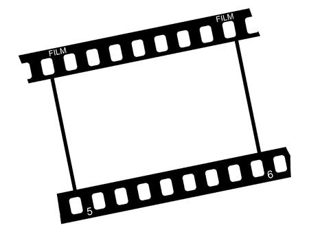 cinta pelicula: fotograma de la película tradicional foto
