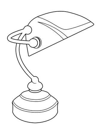 lamp outline: outline illustration of office lamp