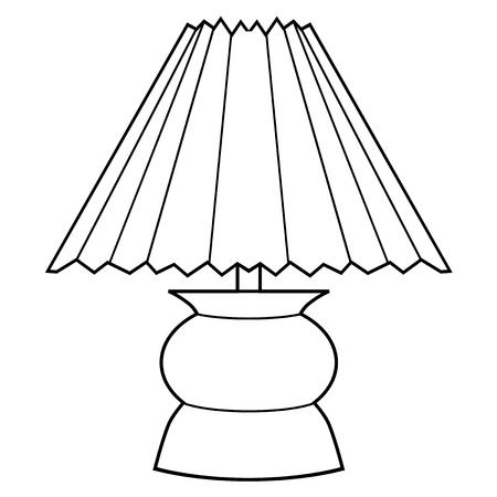 lamp outline: outline illustration of decorative lamp Illustration