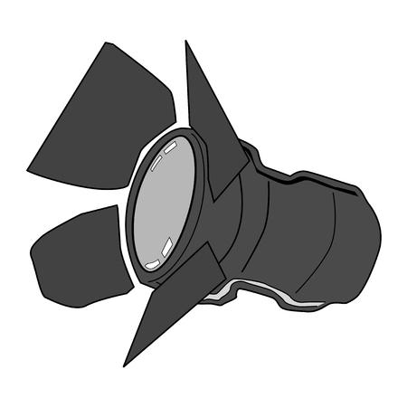 spotlight: vector illustration of spotlight, equipment of studio