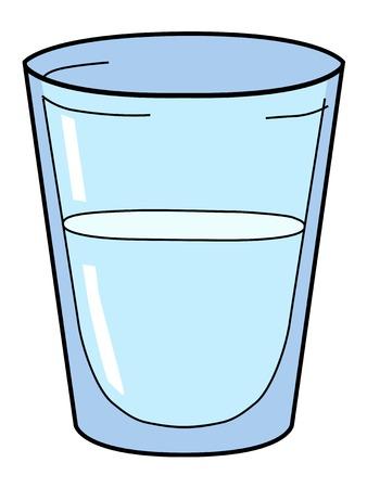 Illustrazione vettoriale del bicchiere d'acqua Archivio Fotografico - 45584352