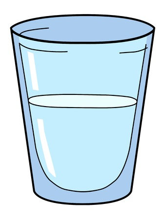 glass water: vector illustration of glass of water