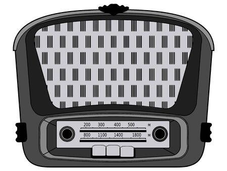 nostalgia: vector illustration of vintage radio