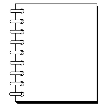 copybook: outline illustration of spiral copybook Illustration