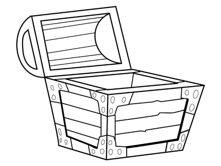 coffer: outline illustration of vintage coffer