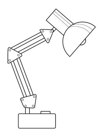 lamp outline: outline illustration of table lamp Illustration