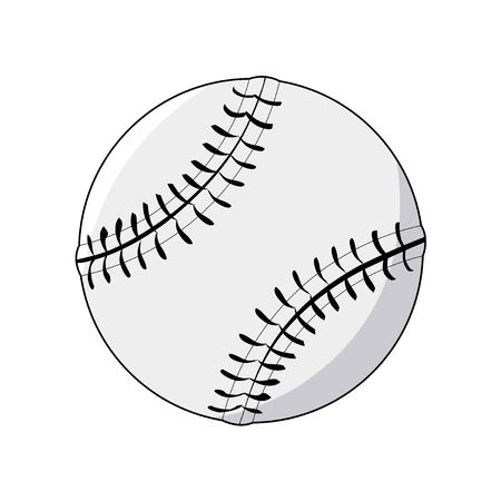 fast pitch: vector illustration of baseball ball