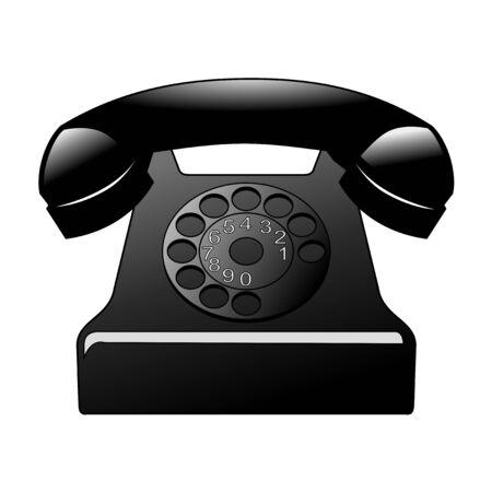 vintage phone: vector illustration of vintage phone