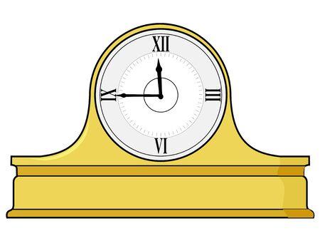 mantel: vector illustration of mantel clock
