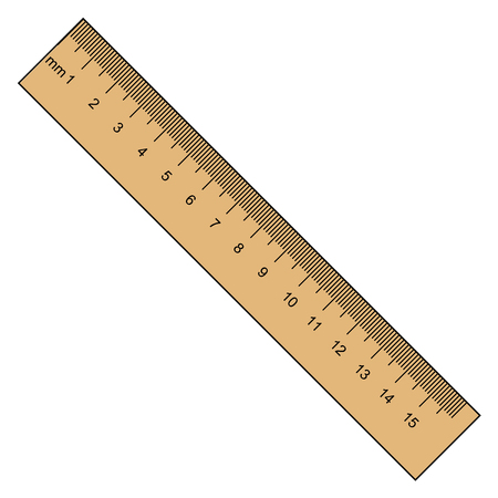 vector illustration of ruler, instrument of measurement