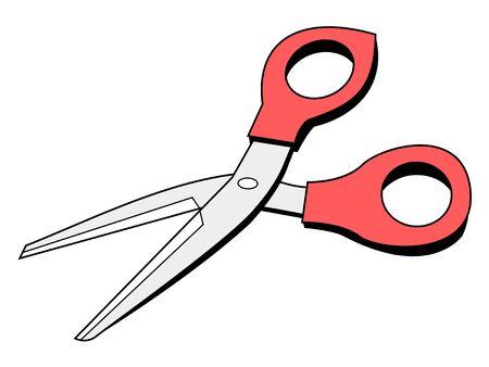 office tool: vector illustration of scissors, office tool