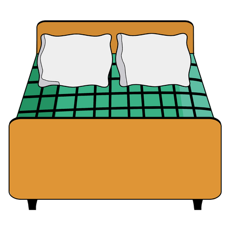 hotel bed: vector illustration of hotel bed