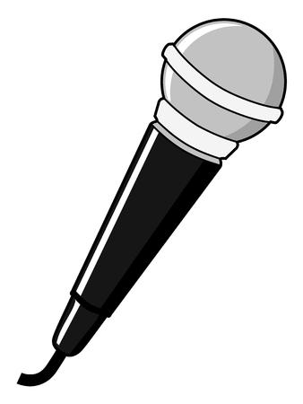 retro microphone: illustration of microphone, audio equipment Illustration