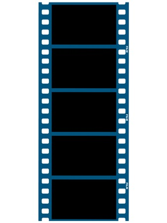 35mm film motion picture camera: illustration of film strip Illustration