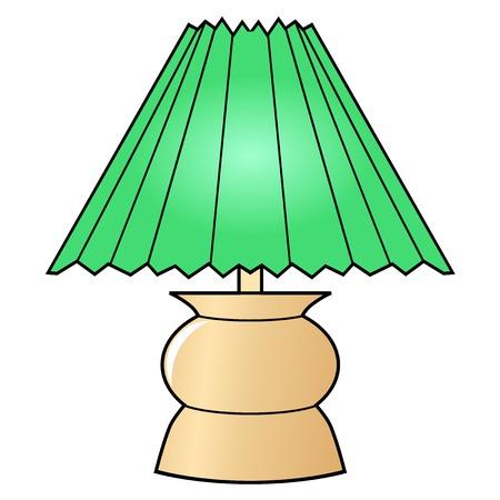 lampshade: illustration of decorative lamp