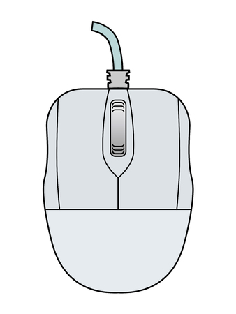 mouse: illustration of computer mouse