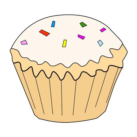 cupcake illustration: illustration of cupcake, tasty, sweet food