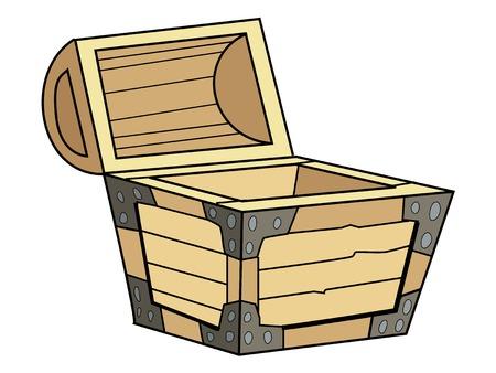 coffer: illustration of vintage coffer