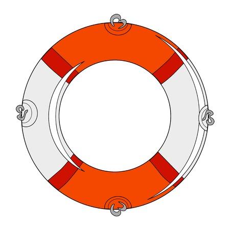 buoy: illustration of life buoy