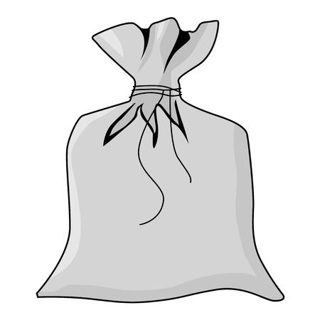 coffee sack: illustration of closed sack