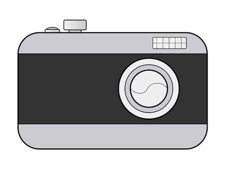 digital: illustration of digital camera