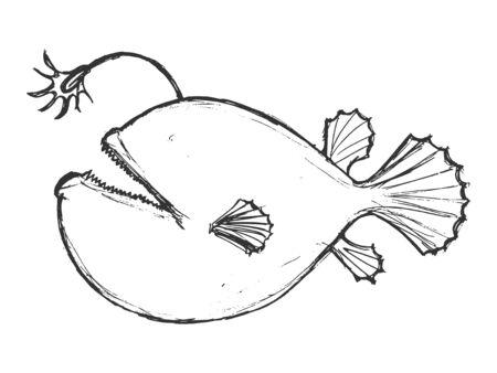 deepsea: deep-sea fish, illustration of wildlife, zoo, wildlife, animal of sea