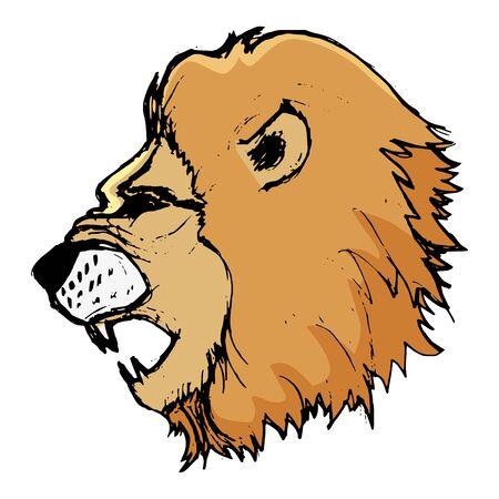 africa safari: lion, illustration of wildlife, zoo, animal of savannah, predator, Africa, safari