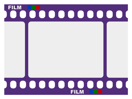 photo film: frame of traditional photo film