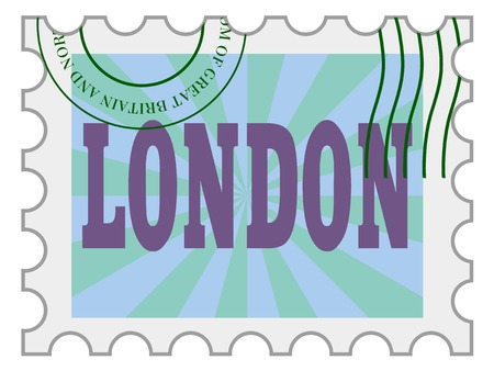 post stamp: post stamp of London