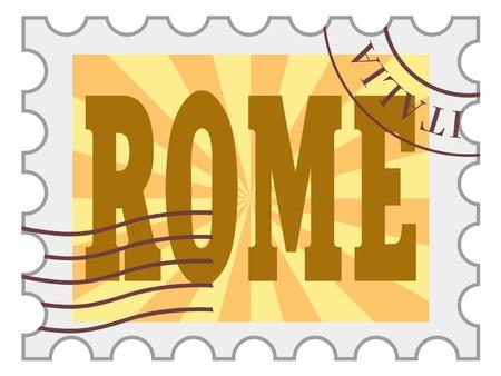 post stamp: post stamp of Rome Illustration