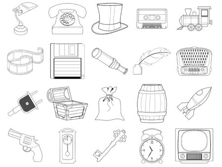 home related: set of different home related objects Illustration