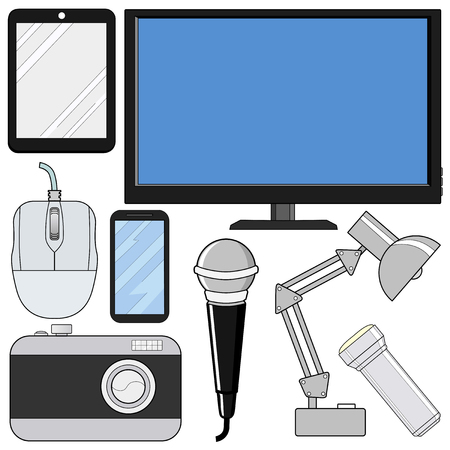 consumer electronics: set of consumer electronics