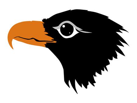 A silhouette of eagle