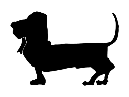A silhouette of basset hound Illustration