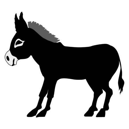 dun: silhouette of donkey