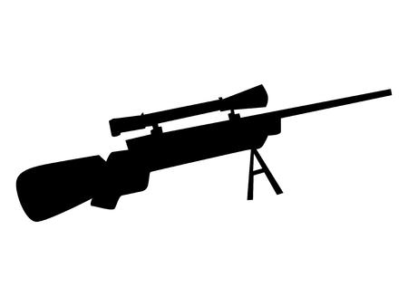 gunsight: silhouette of sniper rifle