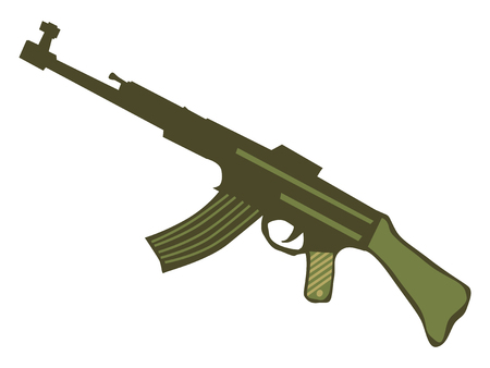 silhouette of automatic weapons Vetores