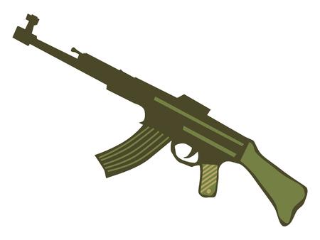 Silueta de armas automáticas Ilustración de vector
