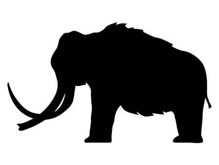 silhouette of mammoth