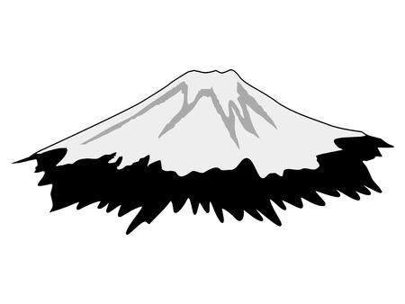 Silhouette of Mount Fuji