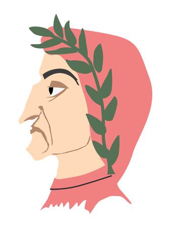 Illustratie van Dante Alighieri Stock Illustratie